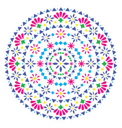 mexican mandala design folk art bohemian vector image