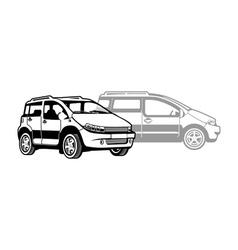 microcar vector image