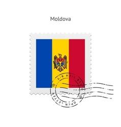 Moldova Flag Postage Stamp vector