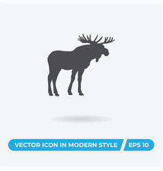 Moose icon simple car sign vector