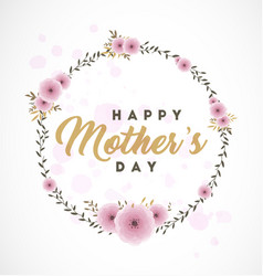 Mother s day typographical design element vector