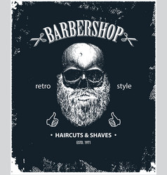 Poster of barbershop label vector