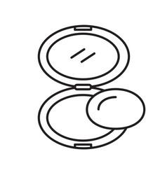 Powder linear icon vector