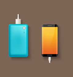 Power bank and phone vector