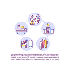 Pressure on health system concept line icons vector