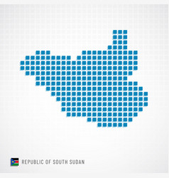 republic of south sudan map and flag icon vector image