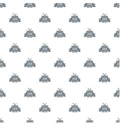 retro christmas gift pattern seamless vector image