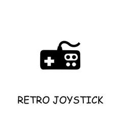Retro joystick flat icon vector