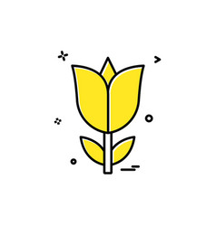 rose flower love icon design vector image