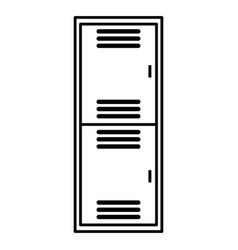 School locker metal isolated icon vector