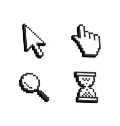 set mouse cursors vector image