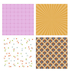 Set of abstract geometric hipster fashion design vector