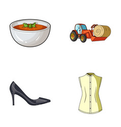 sewing food and other web icon in cartoon style vector image