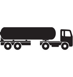 Simple tanker truck silhouette symbol vector