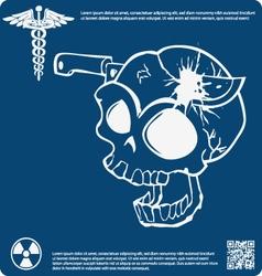 Skull X ray 12 vector