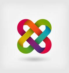 Solomon knot in rainbow colors vector