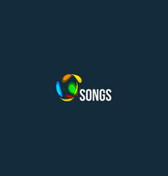 songs abstract logo audio wave design icon vector image
