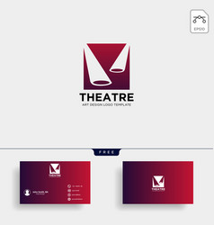 Theater mask actor logo template icon element vector