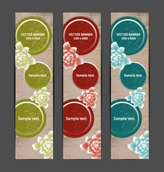 Vertical Floral Banner Bookmark background vector