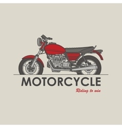Vintage bike logo vector
