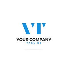 vr letters logo rectangle vector image