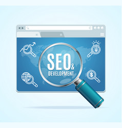 web page search engine seo concept vector image