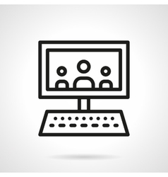 Webinar black line design icon vector image