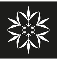 White flower seamless pattern vector image