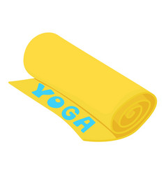 yoga mat icon cartoon style vector image