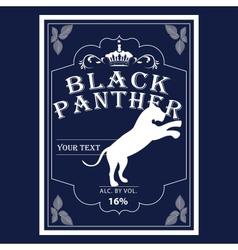 alcohol label design vector image
