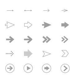 Arrow Icons Line Set Of Design copy vector image