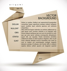Origami abstract background vector image