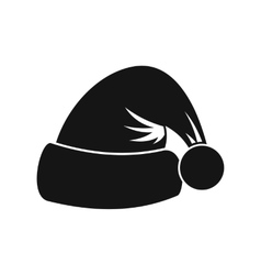 Santa hat icon simple style vector image
