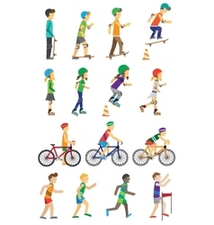 Sport People Set Man and Woman vector image vector image