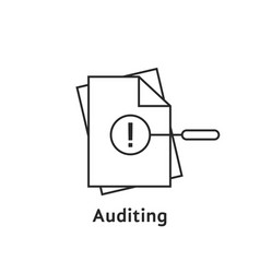auditing with thin line document vector image