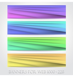 Banners for web collection16 vector image vector image