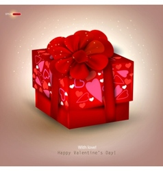 beautiful red gift vector image