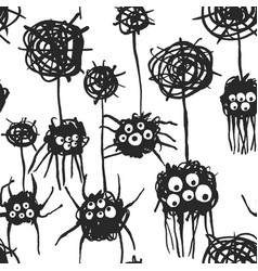 cute spiders pattern vector image
