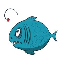 Funny cartoon fish vector image