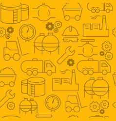 Line style icons seamless pattern icons industrial vector