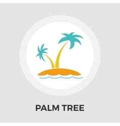 Palm Tree flat icon vector image