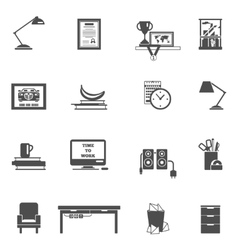 Room Interior Icons vector image vector image