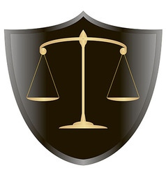 scales of Justiceshield 1 v vector image