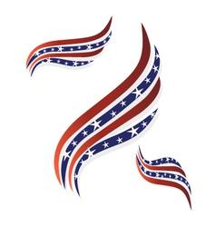 USA flags symbol logo vector image vector image