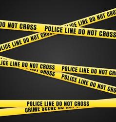 Criminal Scene Yellow Line vector image vector image