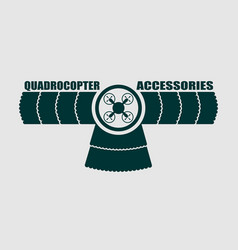 drone quadrocopter icon emblem vector image