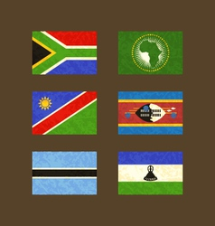 Flags of South Africa African Union Namibia vector image