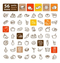 food and fruit set vector image vector image