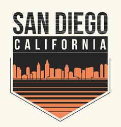 san diego graphic t-shirt design tee print vector image vector image