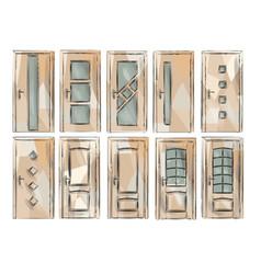 set of door3 vector image vector image
